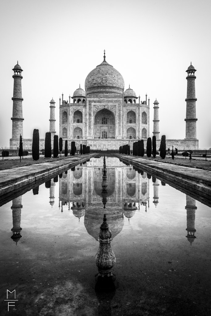 Taj Mahal India Black and White Agra Rajasthan