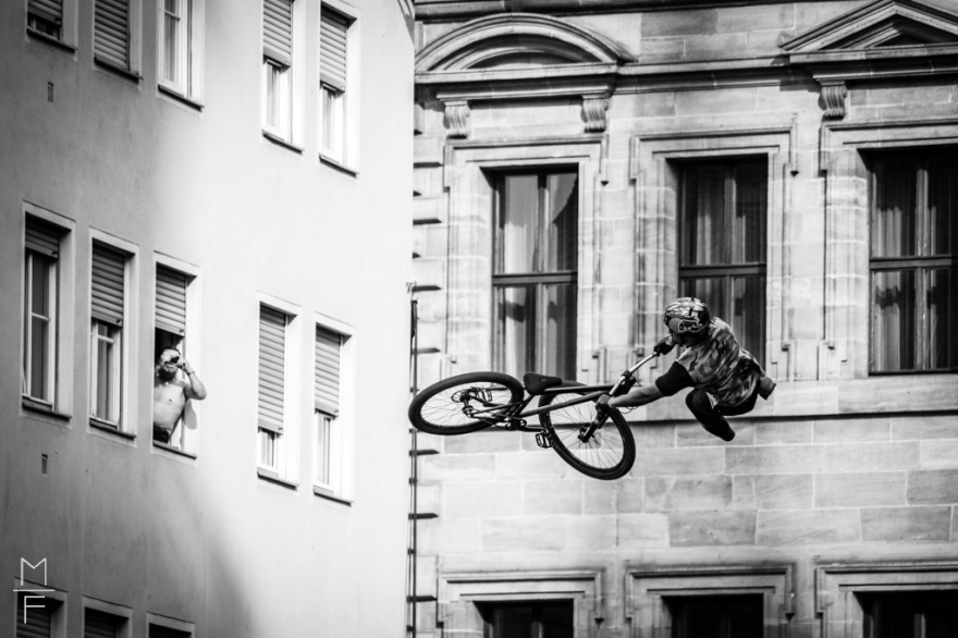 Red Bull Rampage District Ride MTB Freeride Nürnberg Black and White Photography Marc Lorin Fassbender